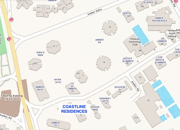 Coastline Residences Condo Location Map