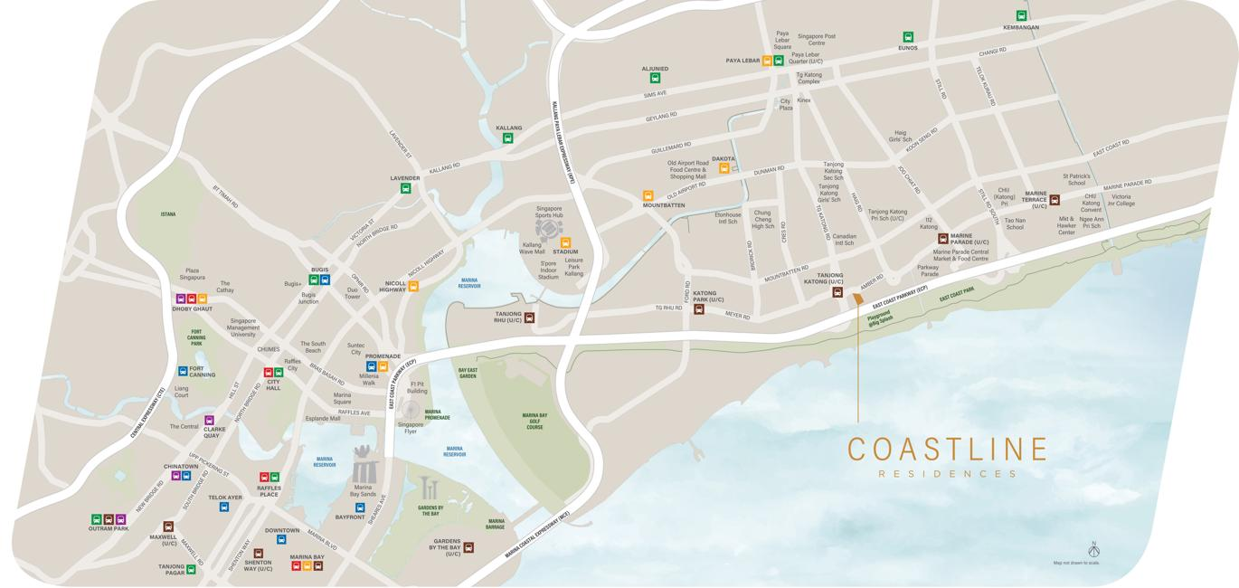 Coastline Residences Condo Location 1